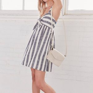 Cooperative • Tie-Front Striped Mini Dress